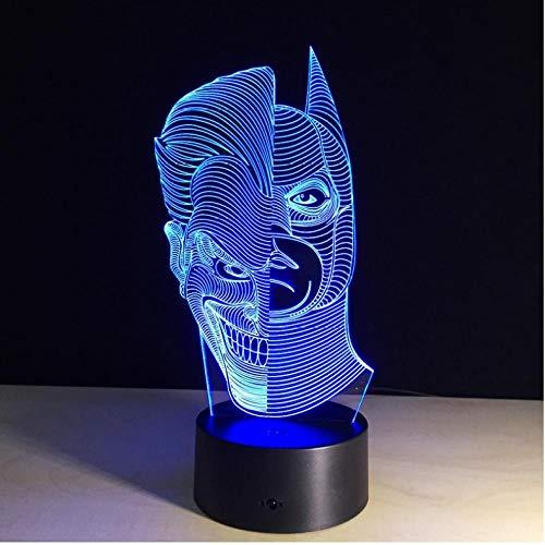 Nachtlicht 3D Led Nachtlicht 7 Bunte Acryl Usb Led Tischlampe Action Figure Beleuchtung Spielzeug Geschenke Für Jungen-Touch Switch