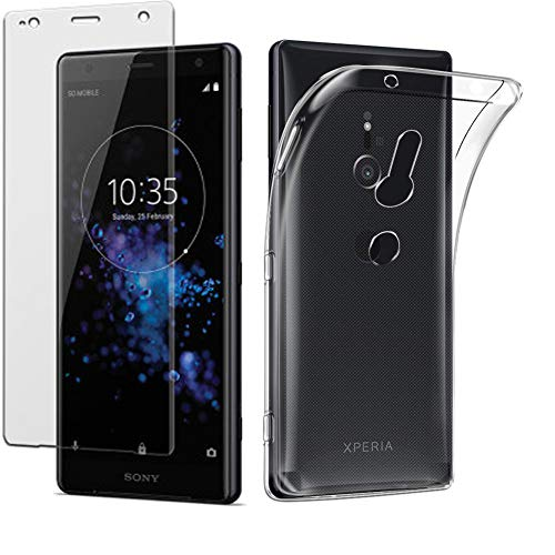 ce653bb2aa Sony Xperia XZ3 / Xperia XZ3 Crystal Clear Scratch Proof Transparent TPU  Protective Cover Ultra Slim Lightweight Soft Gel TPU Case With Tempered  Glass ...