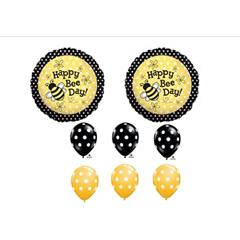 1 X Happy Bee-Day Birthday Buzz Bumble Bee Bouquet Balloon Set Party Decoration by Anagram