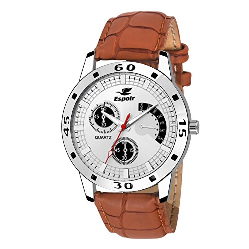 Espoir Analog White Dial Men's Watch - WCH-121