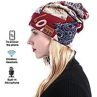 Mujeres Bluetooth Hat, Gorra De La Gorrita Tejida A Prueba De Viento, Sombrero De Música Inalámbrica Bluetooth Manos Libres Hablando Invierno Caliente Para Deportes Al Aire Libre Navidad/Regalos De Cumpleaños
