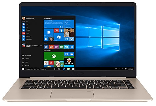 ASUS Vivo Book S510UA-BR249T - Ordenador Portátil de 15.6' HD (Intel Core i3-7100U, 8 GB RAM, 256 GB SSD, Intel HD Graphics 620, Windows 10 Home) Dorado - Teclado QWERTY Español