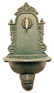 Fontana in ghisa a parete bronzo anticato