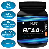 INLIFE BCAA Branched Chain Amino Acids 7000 With L-Glutamine, Citrulline Malate Nutrition Energy