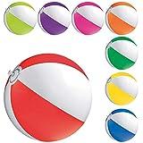 Druckspezialist 50 x Blauer Wasserball Strandball Jerik Wasserbälle 1-Farbig mit Werbung Bedrucken