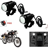 #4: AutoStark U1 LED Motorycle Fog Light Bike Projector Auxillary Spot Beam Light (Black, 2Pc) For Royal Enfield Continental Gt