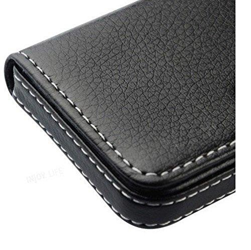 AlexVyan-Genuine Accessory – Stylish Pocket Sized Stitched Leather Visiting Card Holder for Keeping Business Cards, Debit Cards, Credit Cards and more