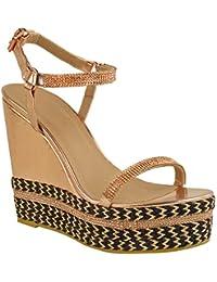 Fashion Thirsty heelberry Mujer Zapatos Tacón Alto Tiras Pedrería  Plataformas Brillante NUEVOS Zapatos Talla f9515cefddbf