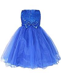 Freebily Vestido Elegante de Princesa Fiesta Boda para Niña (2 a 14 Años) Vestido