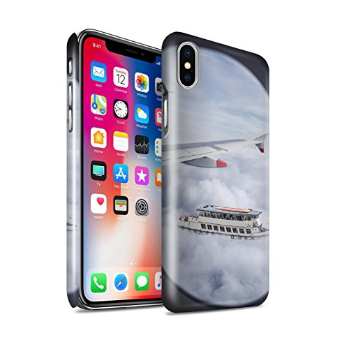 STUFF4 Glanz Snap-On Hülle / Case für Apple iPhone X/10 / Ersten Gang Muster / Vorstellen Kollektion Cloudspotting