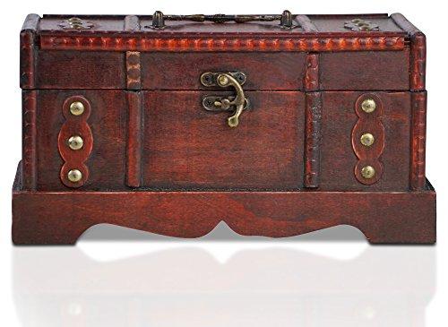 Piraten-Schatztruhe von Thunderdog - Holztruhe braun - Handarbeit Vintage mit und ohne Schloss verschiedene Größen - das ideale Geschenk unsere Schatzkiste (Berlin S)