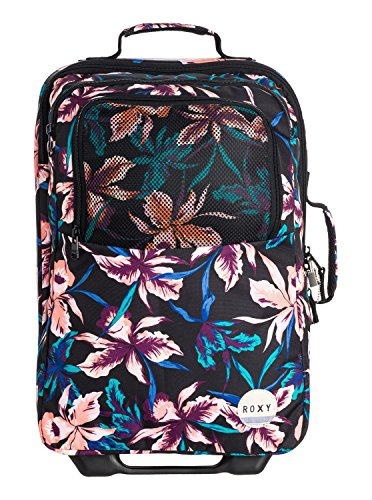 Roxy Damen Reisetasche Wheelie J, True Black  Maui Lights, 47 x 34 x 21 cm, 32 Liter, ERJBL03050-KVJ8