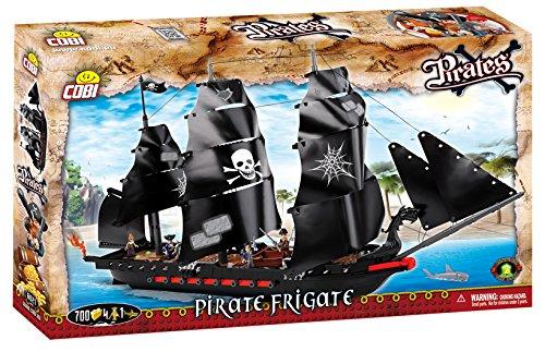 Cobi 6021 Spielzeug Pirate Frigate, Schwarz, Grau, Rot, Braun