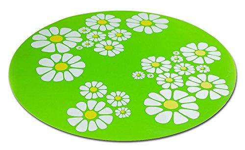 Unterlegmatte für Trinkbrunnen LITTLE FLOWER grün 35,5 cm