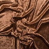 Pannesamt Deluxe Stoff Meterware - 150cm breit - Kupfer