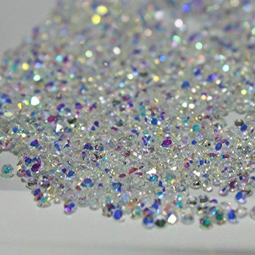 1440Pcs Mikro Diamant DIY Nägel Rhinestones Kristall flache Rückseite Mini Rhinestones Notwendigkeits Kleber Nagel Kunst Dekoration(AB clear)