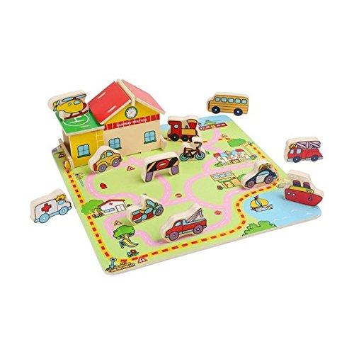 Preisvergleich Produktbild Legler 3492 - Steckpuzzle Verkehr
