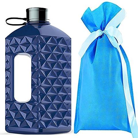 Water Bottle-Water Jug-Trink flasche-Sport Wasser flasche-Trainings flasche-Water Gallon-Wasser Gallone-Wasser Kanister-Gym Bottle-BPA FREI - Fitness und Sports Bottle-2.2 Liter ,73OZ(Blau)
