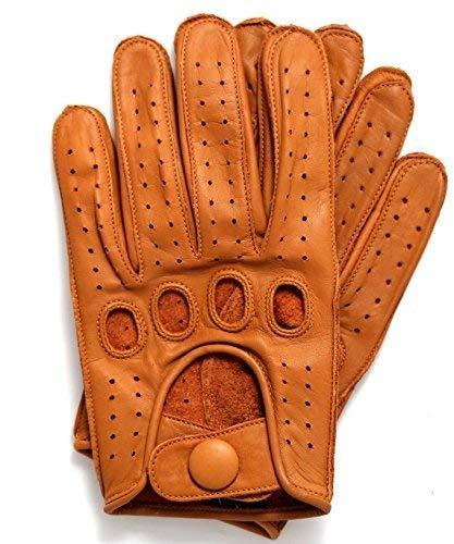 Riparo Echtes Lederhandschuh für Männer Klein Cognac
