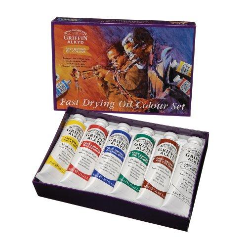 winsor-newton-griffin-set-de-6-tubes-peinture-a-lhuile-a-sechage-rapide-37-ml