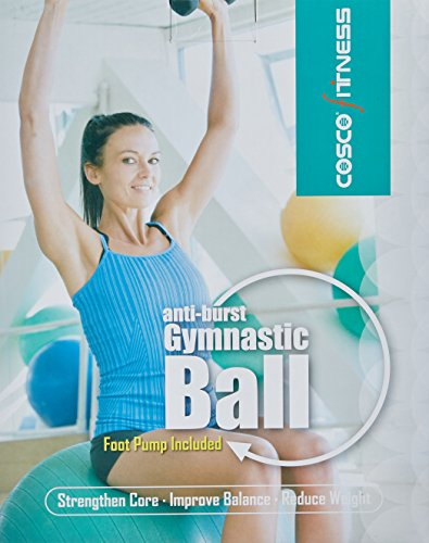 Cosco Anti Burst Gym Ball with Foot Pump, 65cm