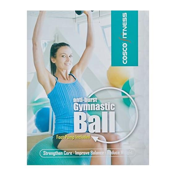 Cosco Anti Burst Gym Ball with Foot Pump, 65cm