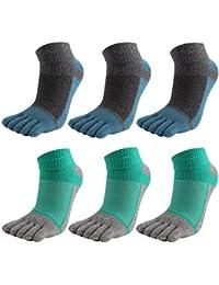 6 Pares Hombres Toe Calcetines Cinco Dedos Calcetines De Algodón Suave Y Transpirable Bajo Corte Calcetines Para Hombres