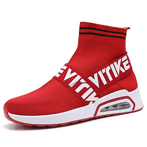 VITIKE Unisex Atmungsaktives Mesh Turnschuhe mit Luftpolster Freizeitschuhe Ultra-Light Sportschuhe Laufschuhe Mädchen Sneakers (Mesh High Top)