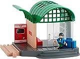 BRIO 33745 - Bahnhof mit Sound - Transport Verkehr Kleinkinder Holzspielzeug