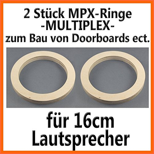 2-stuck-16cm-lautsprecherringe-mpx-multiplex-19mm-hohe