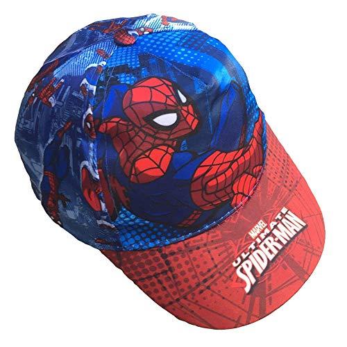 CAPPELLO Estivo Spiderman Uomo Ragno Marvel Supereroe con Visiera Taglia Unica - 45368/2