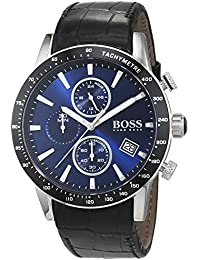 aef30f65f896 HUGO BOSS Men s Chronograph Quartz Watch with Leather Strap – 1513391