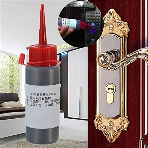 Polvo de grafito para pestillos con bisagras EsportsMJJ Lubricante de bloqueo de superficie deslizante para cerradura de puerta interior