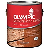 Olympic 53206A-01 Gallon Solid Color Cedar& Deck& Fence & Siding Stain
