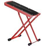 Neewer Extra Starke Gitarren-Fußstütze aus massivem Eisen, bietet 6 leicht justierbare Höhenpositionen, ausgezeichnete Stabilität mit Gummideckeln und rutschfestem Gummi-Auflagen (rot)