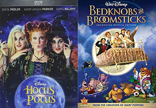 Disney Family Magical Witchy Halloween 2-DVD Bundle - Hocus Pocus & Bedknobs and Broomsticks 2-Movie Collection (Movie Disney Halloween)