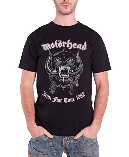 Motorhead iron fist tour 1982 War Pig Herren Nue Schwarz T Shirt all sizes (1982 Tour T-shirt)