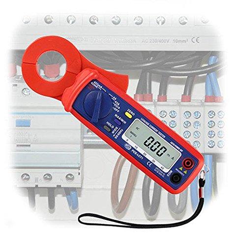 PCE Instruments Leckstromzange PCE-LCT 1 zur Überprüfung des Leckstromes / RMS Strommessung / Durchgangs- und Widerstandsprüfung / Spannungsmessung bis 400 V