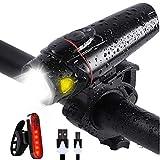 ZGAO LED Fahrradlicht Set, Scheinwerfer Akku USB Wiederaufladbare, Fahrradlampe Set für Radfahren, Wasserdicht IPX5 Taschenlampe Scheinwerfer