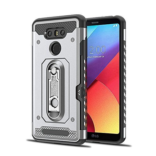 LG G6 Case,Homory Thin Slim Backcase Full Lens Protection Durable Protective Case Soft Case Back Cover for LG G6 - Silver Protective Lens Pouch