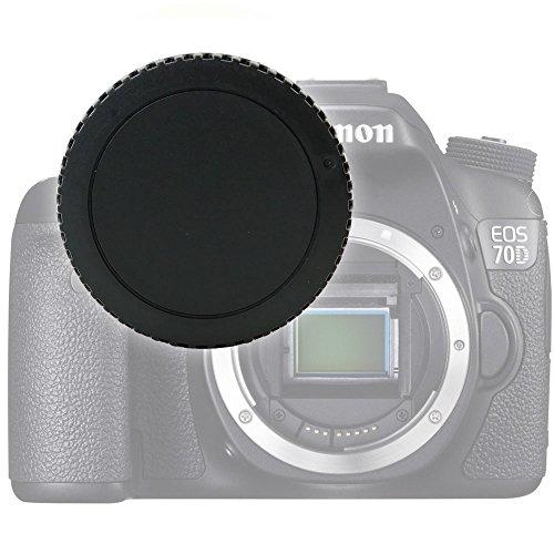 Gehäusedeckel Body Cap kompatibel mit Canon EOS 70D, EOS 7D, EOS 6D, EOS 700D, EOS 100D, EOS Rebel (Canon RF-3), Bajonettverschluss Kappe, Schutzdeckel Canon EF, EF-S Mount -