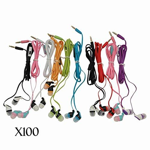 justjamz Kidz 2.0Farbe Call Stereo Kopfhörer Kopfhörer mit Mikrofon gemischt Farben-100Stück -