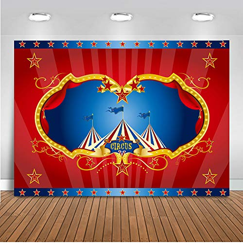 Fotografie Hintergrund 7x5ft Vinyl Zirkus Karneval Kinder Geburtstag Party Banner Spaß Fair Neugeborenen Baby Fotografie Hintergrund ()