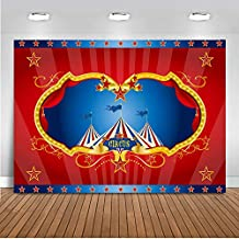 Mehofoto Circus Carpa Fotografía Fondo 7x5ft Vinilo Circo Carnaval Niños Fiesta de cumpleaños Banner Feria Feria
