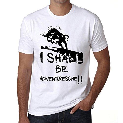 Adventuresome maglietta donna maglietta con parola maglietta regalo bianca