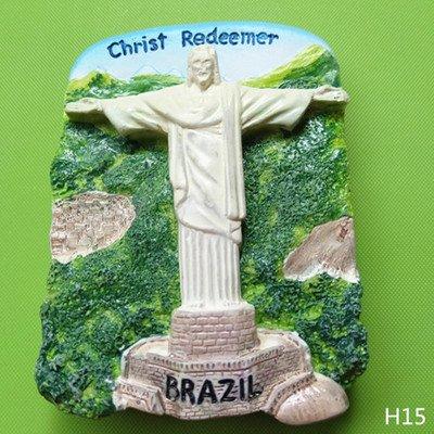 3D, Polyresin, Brasilien, Tourist Souvenir, Kunstharz Kühlschrank Magnet Creative Home Kitchen Dekoration Werbe Geschenk (Werbe-magnete)