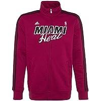 Adidas Felpa con Zip Basket NBA Miami Heat Colore Rosso Prodotto Ufficiale  Taglia L 796e339a28fc