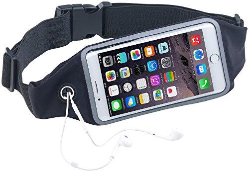 Xcase Bauchtasche: Wasserfester Sport-Laufgürtel für Smartphones, iPhones; Touch-Fenster (Lauf-Gürtel)