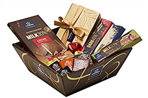 Luxury Belgian Chocolate Gift Hamper, Fresh Leonidas Chocolate Bars and Assorted Chocolates 650g