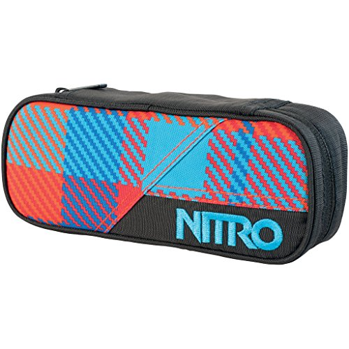 Nitro Federmäppchen Pencil Case Plaid Red-Blue, 20 cm x 8 cm x 6 cm -